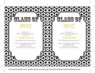 009 Sensational College Graduation Invitation Template Photo  Party Free For Word320