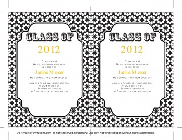 009 Sensational College Graduation Invitation Template Photo  Party Free For Word360