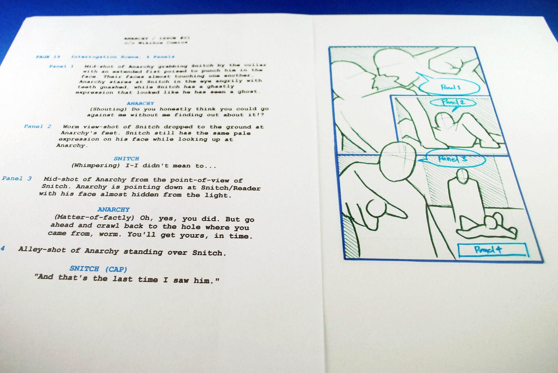 009 Sensational Comic Book Script Writing Format High Resolution  Example1920