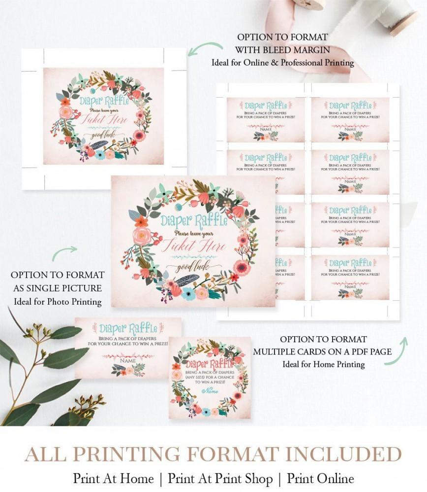 009 Sensational Diaper Raffle Ticket Template Example  Free Printable Download Editable