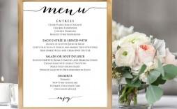 009 Sensational Diy Wedding Menu Template Design  Free Card