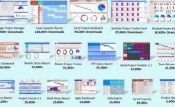 009 Sensational Excel Template Project Management Concept  Microsoft Portfolio Dashboard