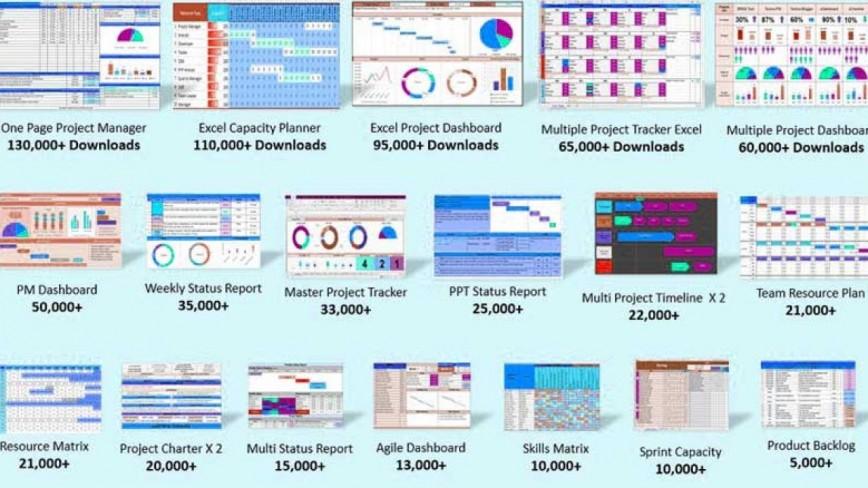 009 Sensational Excel Template Project Management Concept  Portfolio Dashboard Multiple Free868