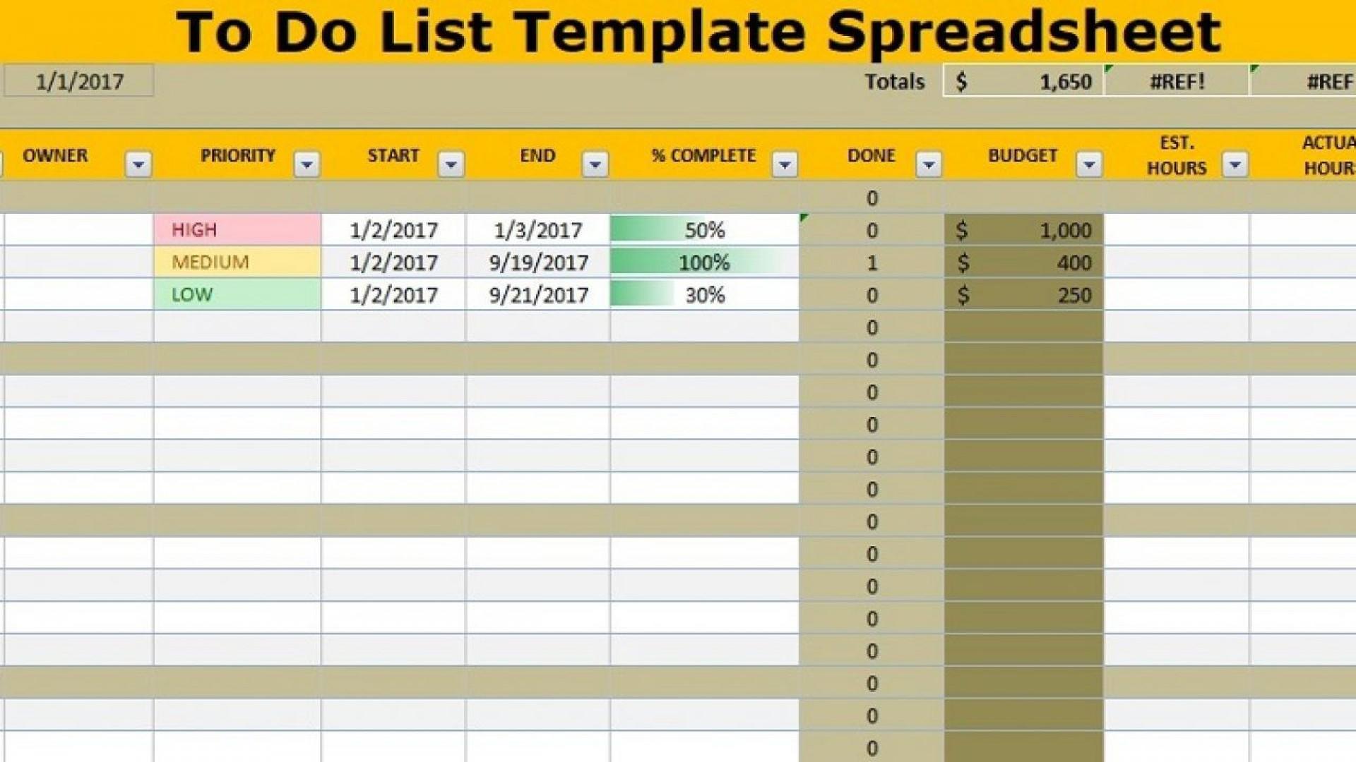 009 Sensational Excel To Do List Template Image  Xlsx Best1920