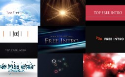 009 Sensational Free Adobe After Effect Logo Intro Template Idea  Templates