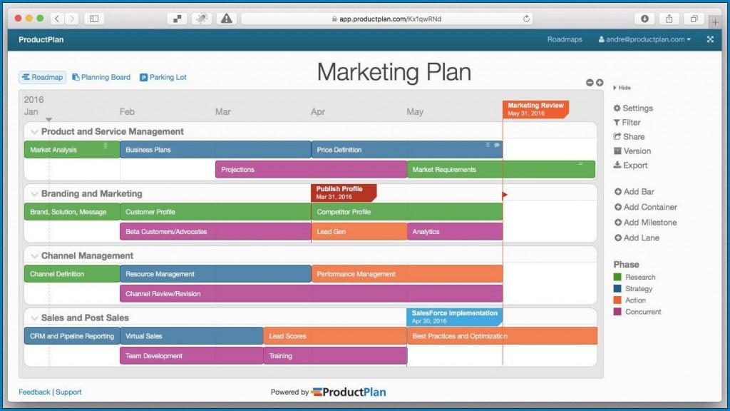 009 Sensational Free Marketing Plan Template Design  Hubspot Download PptLarge