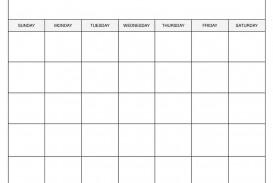 009 Sensational Free Printable Blank Monthly Calendar Template Concept