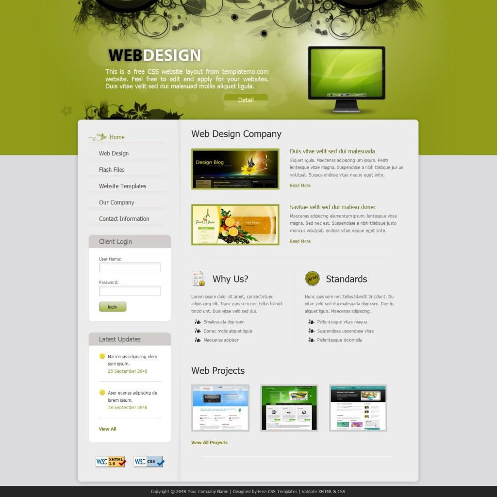 009 Sensational Free Professional Web Design Template Sample  Templates Website DownloadLarge