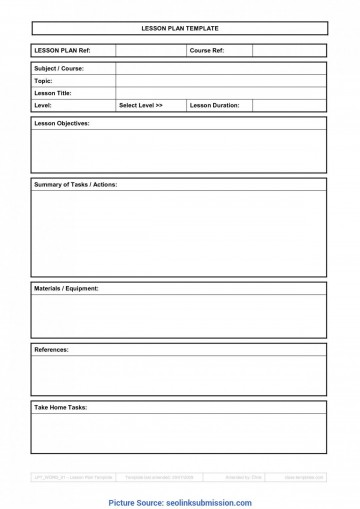 009 Sensational Free Weekly Lesson Plan Template Google Doc Example 360