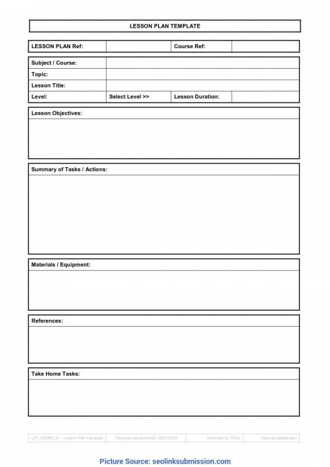 009 Sensational Free Weekly Lesson Plan Template Google Doc Example 480