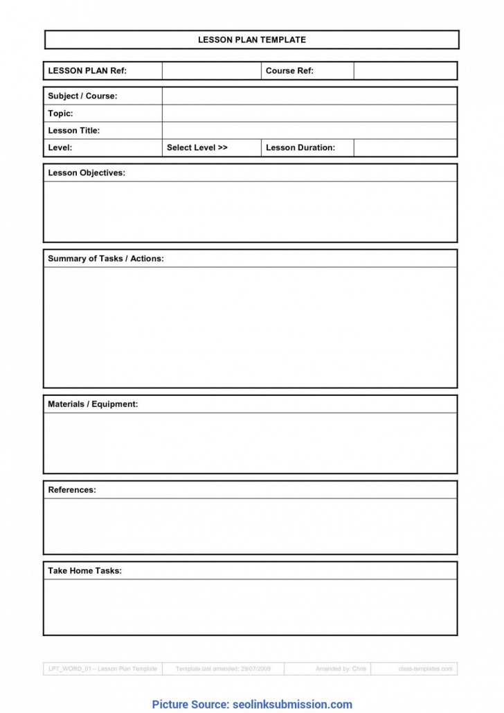 009 Sensational Free Weekly Lesson Plan Template Google Doc Example 728
