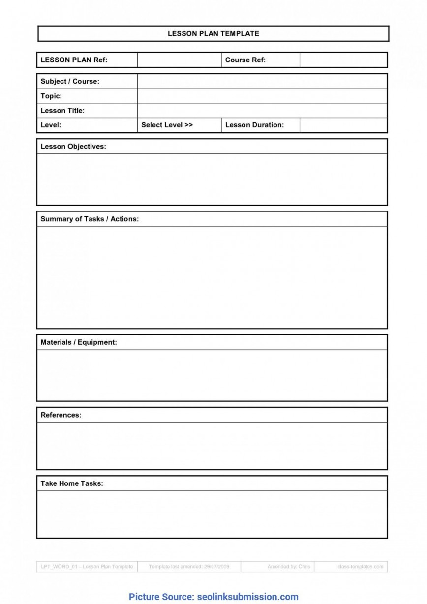 009 Sensational Free Weekly Lesson Plan Template Google Doc Example 868