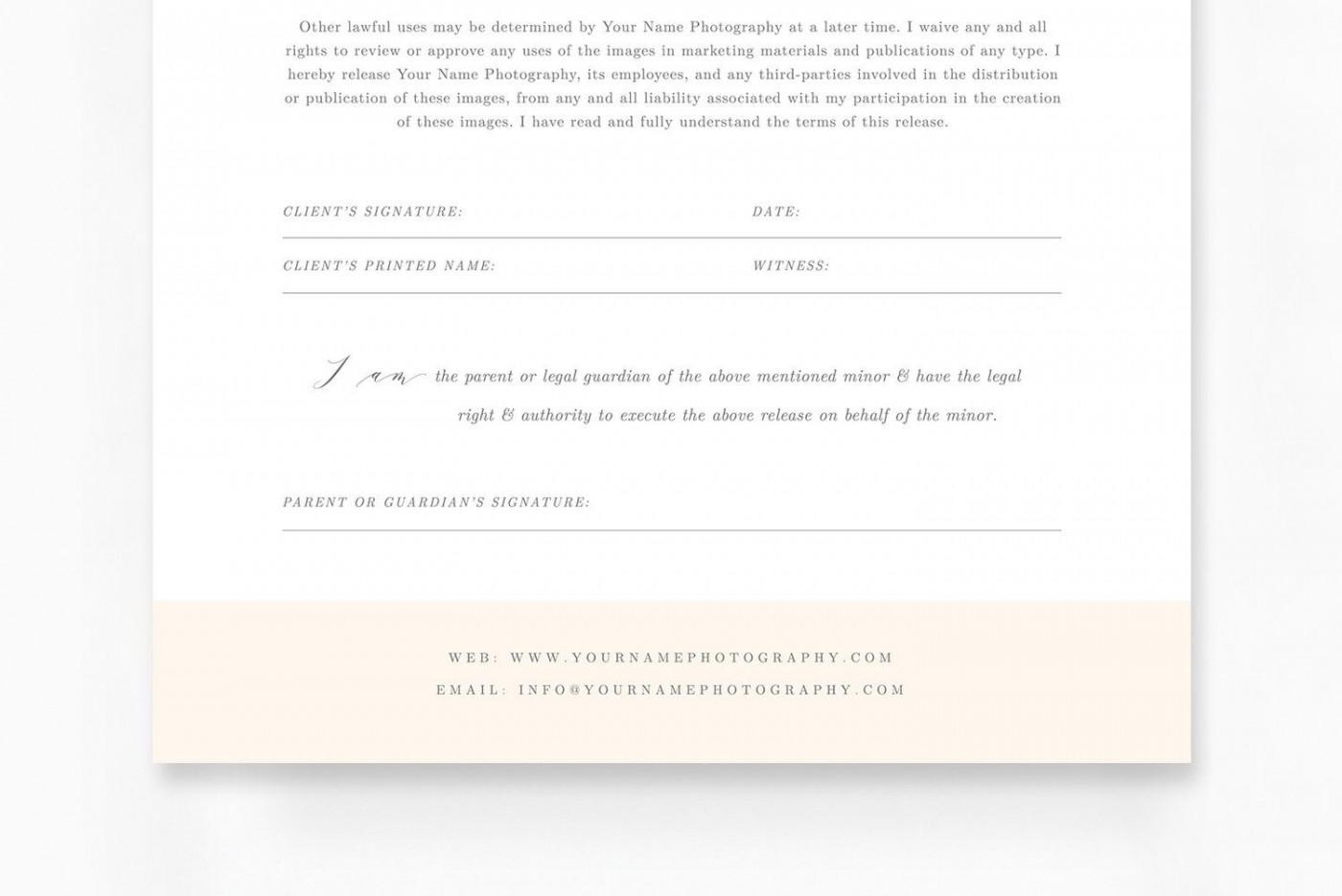 009 Sensational Model Release Form Template Idea  Photographer Gdpr Simple1400