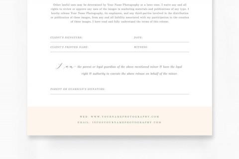 009 Sensational Model Release Form Template Idea  Photographer Gdpr Simple480