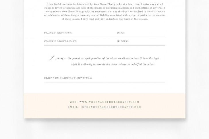 009 Sensational Model Release Form Template Idea  Photographer Gdpr Simple728