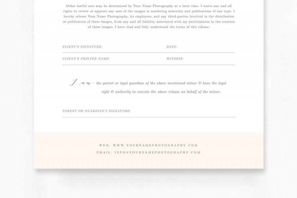009 Sensational Model Release Form Template Idea  Photographer Gdpr Simple960
