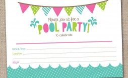 009 Sensational Pool Party Invitation Template Free Example  Downloadable Printable Swimming