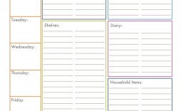 009 Sensational Printable Grocery List Template Picture  Shopping Microsoft Free