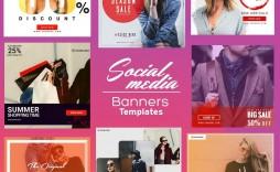 009 Sensational Social Media Banner Template Free Idea