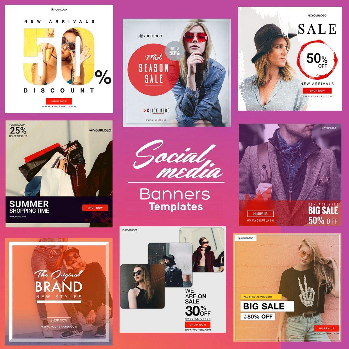 009 Sensational Social Media Banner Template Free Idea Full