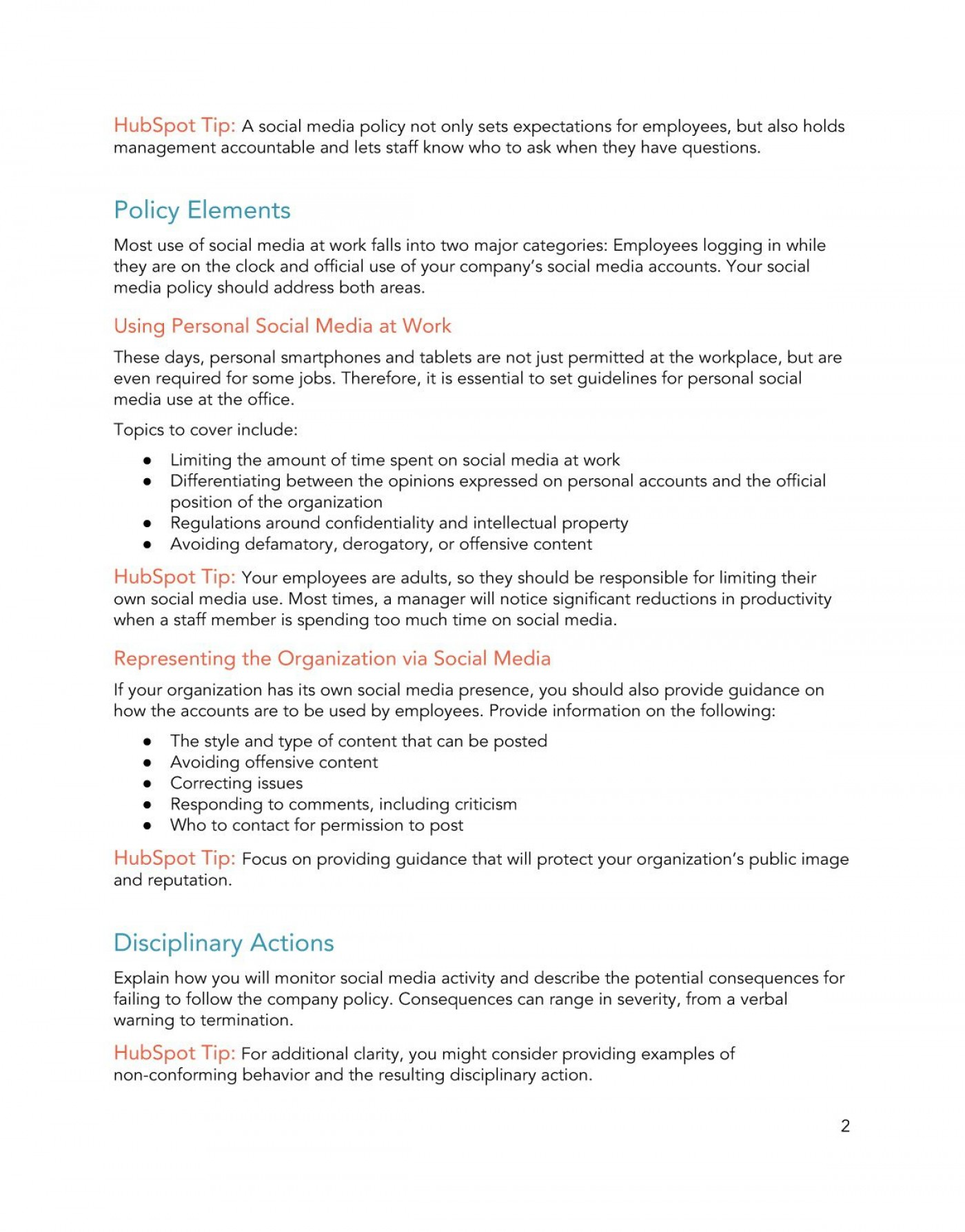 009 Sensational Social Media Policy Template Picture  Free1400