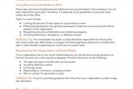 009 Sensational Social Media Policy Template Picture  Free