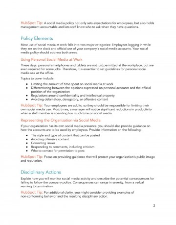 009 Sensational Social Media Policy Template Picture  Free360