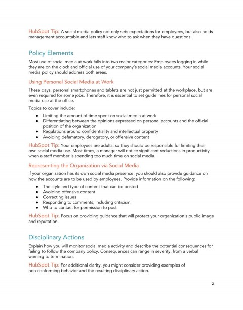 009 Sensational Social Media Policy Template Picture  Free480