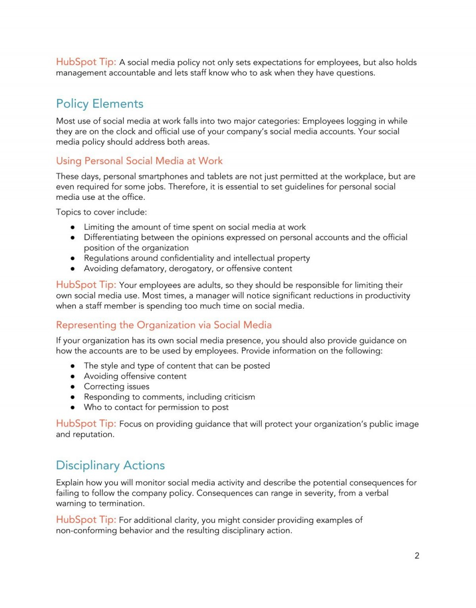 009 Sensational Social Media Policy Template Picture  Free960