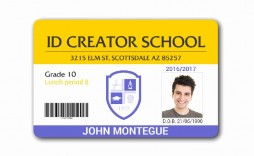 009 Sensational Student Id Card Template Concept  Identity Psd Free Download Word