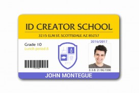 009 Sensational Student Id Card Template Concept  Psd Free School Microsoft Word Download