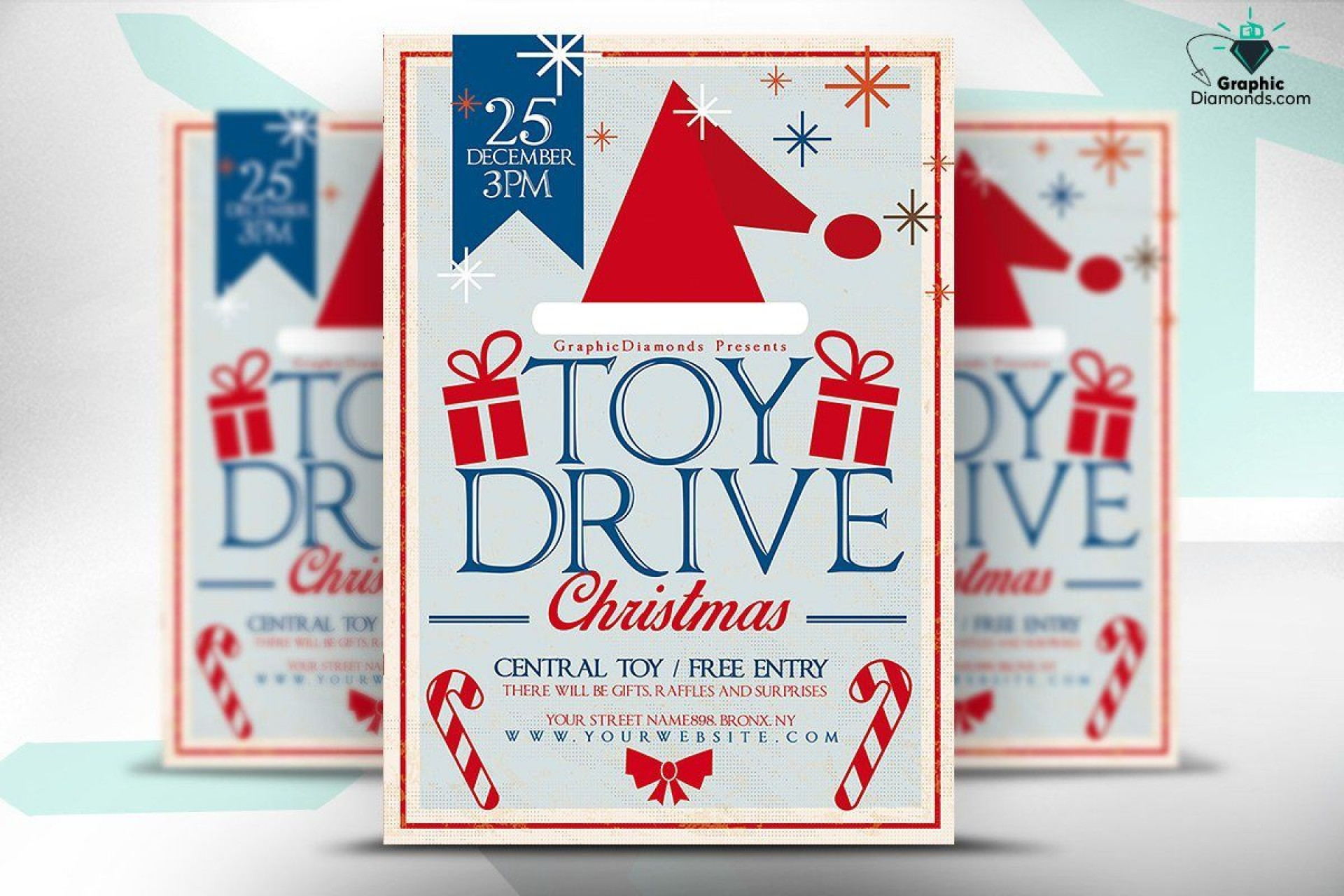 009 Sensational Toy Drive Flyer Template Free Image  Download Christma1920