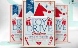 009 Sensational Toy Drive Flyer Template Free Image  Christma Download