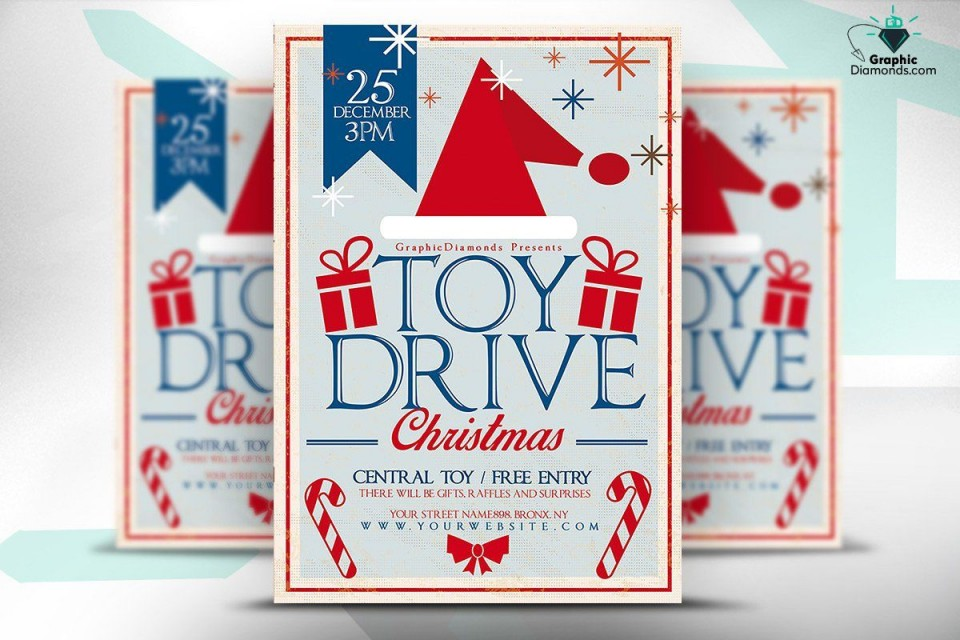 009 Sensational Toy Drive Flyer Template Free Image  Download Christma960