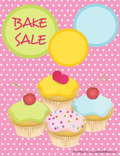 009 Sensational Valentine Bake Sale Flyer Template Free Example  Valentine'Full