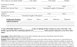 009 Sensational Wedding Videography Contract Template Concept  Free
