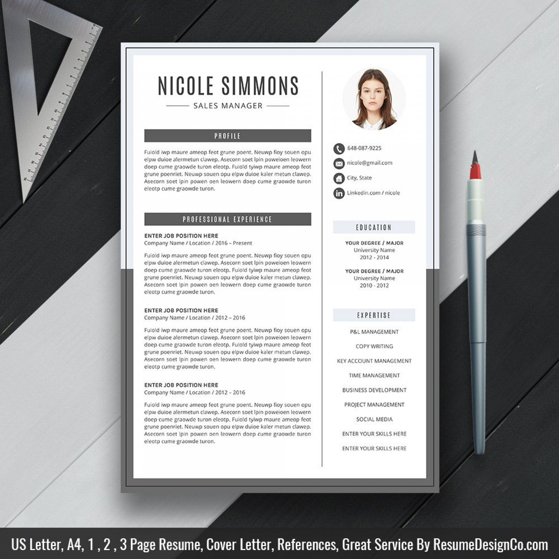 009 Sensational Word Resume Template 2020 Design  Microsoft M1920