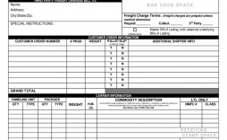 009 Shocking Bill Of Lading Template Excel Sample  Simple House Format In