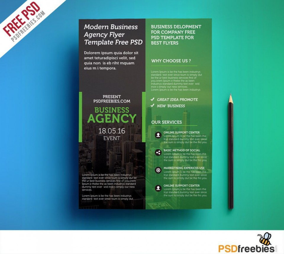 009 Shocking Busines Flyer Template Free Download Image  Photoshop Training Design960