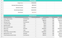 009 Shocking Busines Plan Budget Template Design  Free Excel