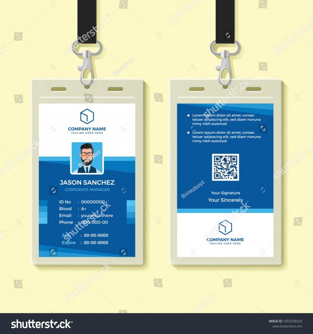 009 Shocking Employee Id Badge Template Idea  Avery Card Free Download WordLarge