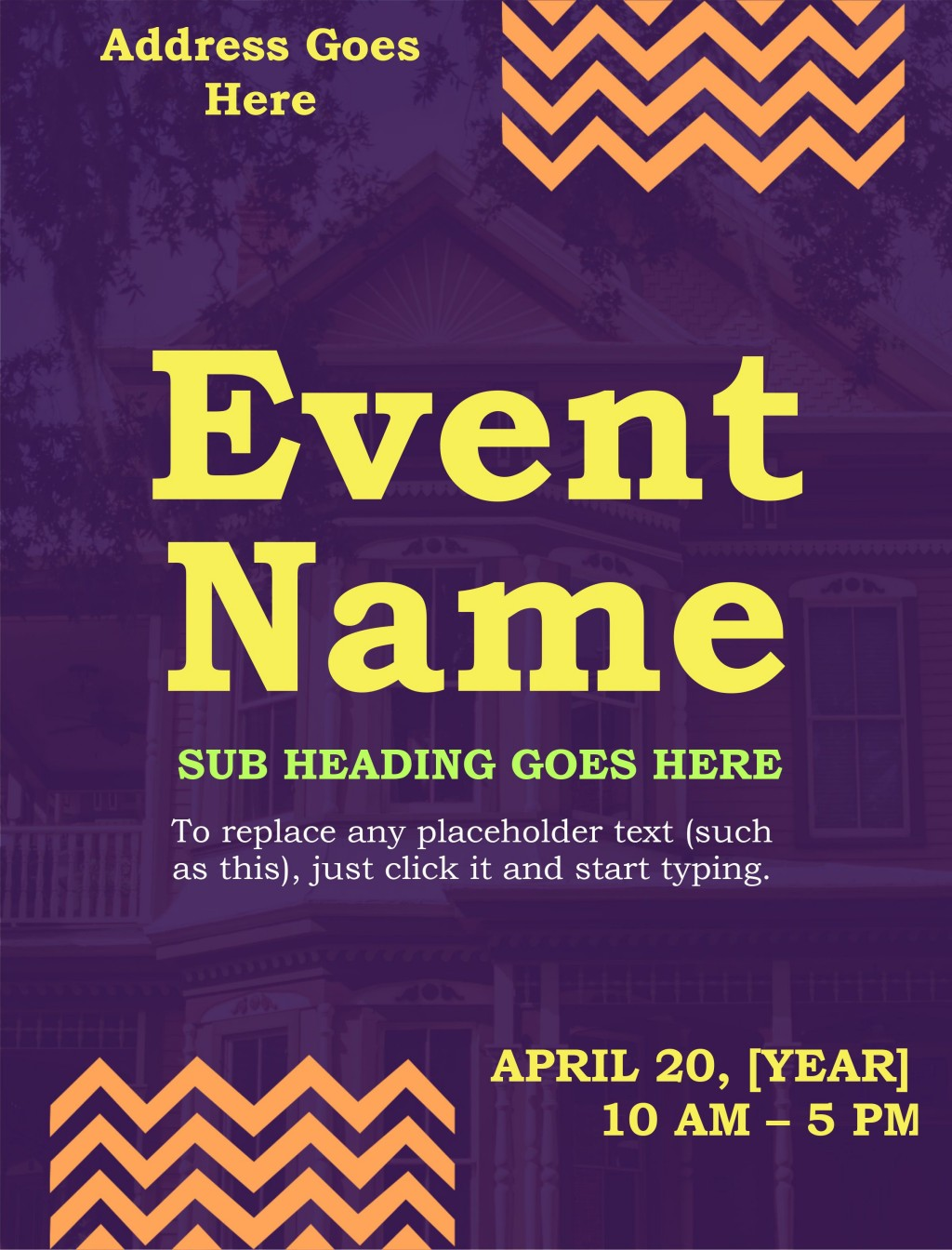 009 Shocking Event Flyer Template Free Printable Sample  ChurchLarge