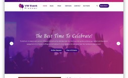 009 Shocking Free Event Planner Website Template Inspiration  Templates Planning Download Bootstrap