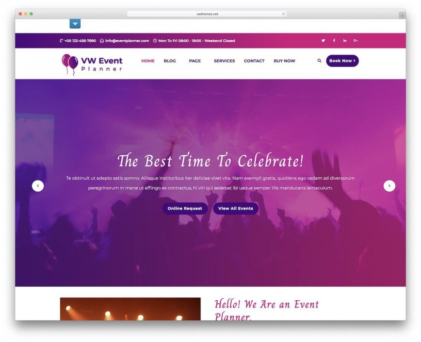 009 Shocking Free Event Planner Website Template Inspiration  Download Bootstrap868