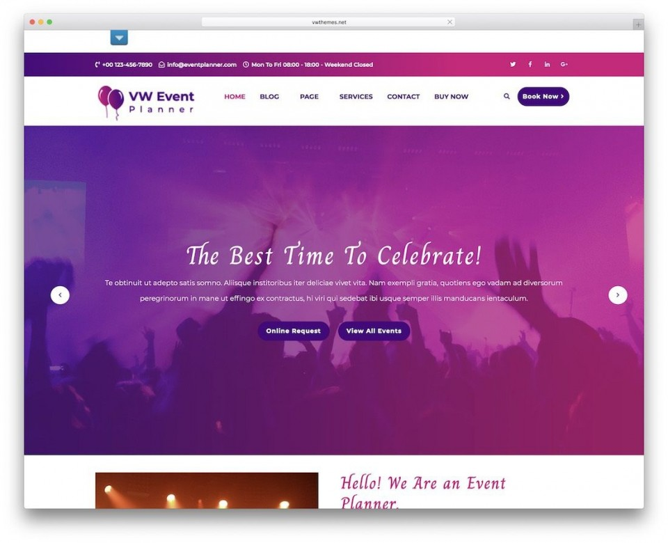 009 Shocking Free Event Planner Website Template Inspiration  Download Bootstrap960