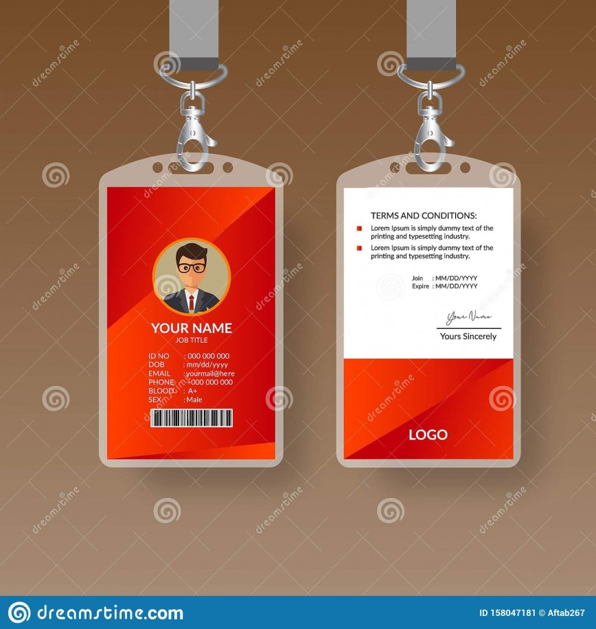 009 Shocking Free Printable Id Card Template Photo  Templates Editable