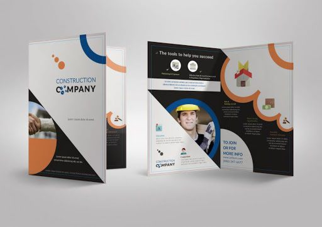 009 Shocking Half Fold Brochure Template Picture  Free Microsoft Word IndesignLarge