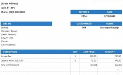 009 Shocking Invoice Template Excel Free Concept  Proforma Download