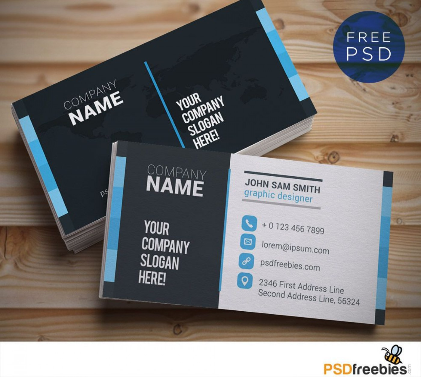 009 Shocking Psd Busines Card Template High Resolution  Computer Free With Bleed1400