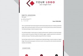 009 Shocking Sample Letterhead Template Free Download Picture  Professional Design In Word Format